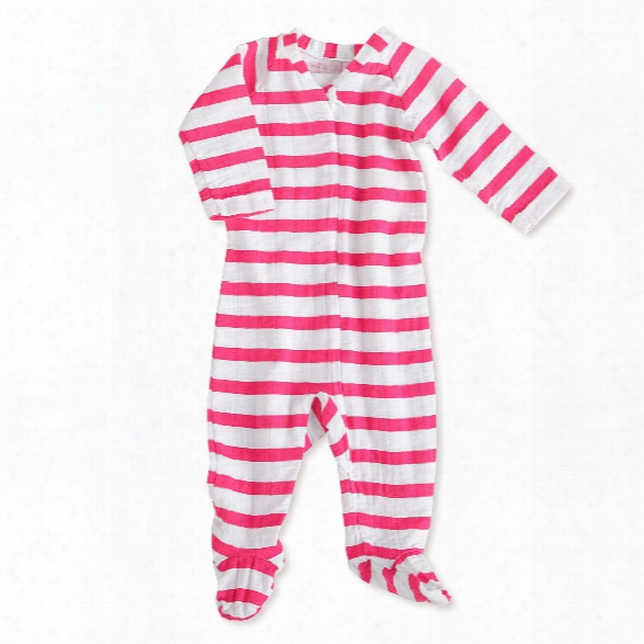 Aden+anais Long Sleeve Zipper One-piece Pyjama