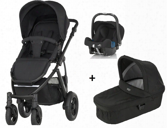 Britax Rã¶mer Smile 2 Incl. Hard Carrycot + Infant Car Seat Baby-safe Plus Shr Ii