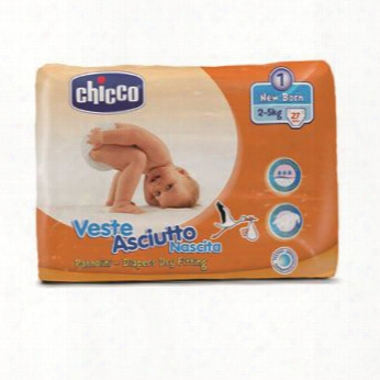 "Chicco Veste Asciutto Diapers, Size 1 ""new Baby�, 2-5 Kg"