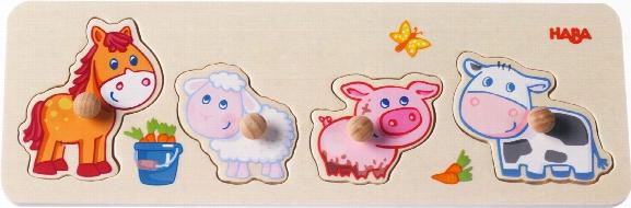 Haba Clutching Puzzle Â�œanimal Babies On The Farmâ��