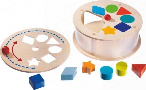 Haba Shape Sorting Box Rainbow Merry-go-round