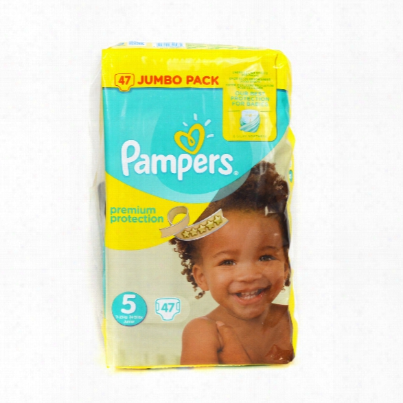 "Pampers Premium Protection Nappies Jumbo Pack �"" Size 5 Junior"