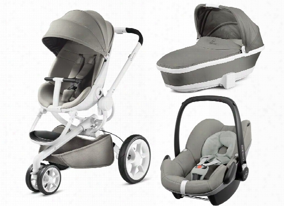 Quinny Moodd Including Dreami Carrycot And Maxi-cosi Infant Car Seat Pebble