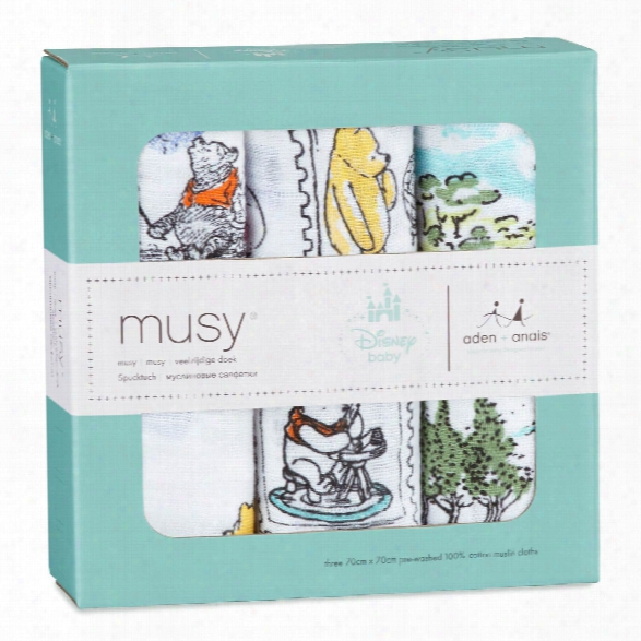 Aden+anais Disney Musy Muslin Burp Cloths, 3-pack