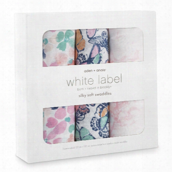Aden+anais White Label Silky Soft Swaddles, Pack Of 3