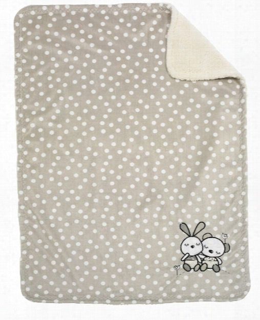 Alvi Microfibre Baby Blanket With Uvp 50+ - With Appliquã© And Particularly Fluffy Back Part