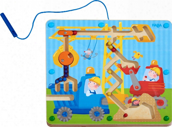 Haba Magnetic Game On The Construction Site