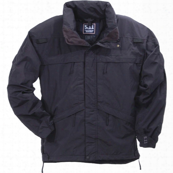 5.11 Tactical 3-in-1 Parka, Xx-large, Black - Black - Male - Excluded