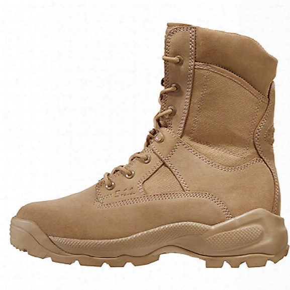 """5.11 Tactical 8"""" A.t.a.c. Side-zip Boots, Dual Gender, Coyote Tan, 10.5, Medium - Tan - Male - Excluded"""