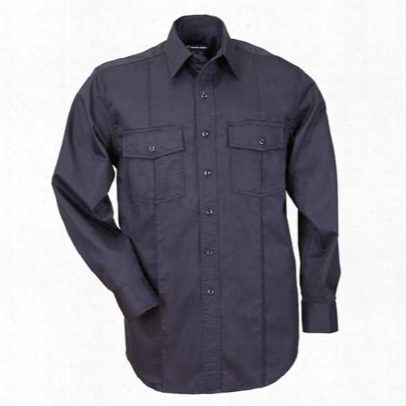5.11 Tactical Class A Ls Station Shirt, Fire Navy, 2xl - Blue - Male - Excluded