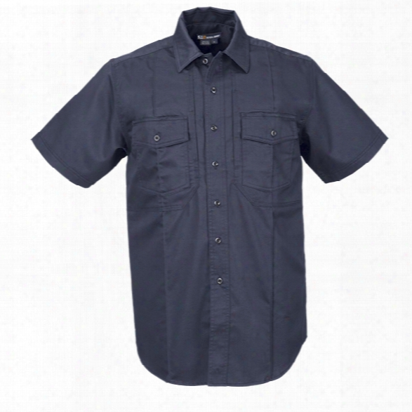 5.11 Tactical Class B Ss Station Shirt, Fire Navy, 2xlt - Blue - Male - Excluded