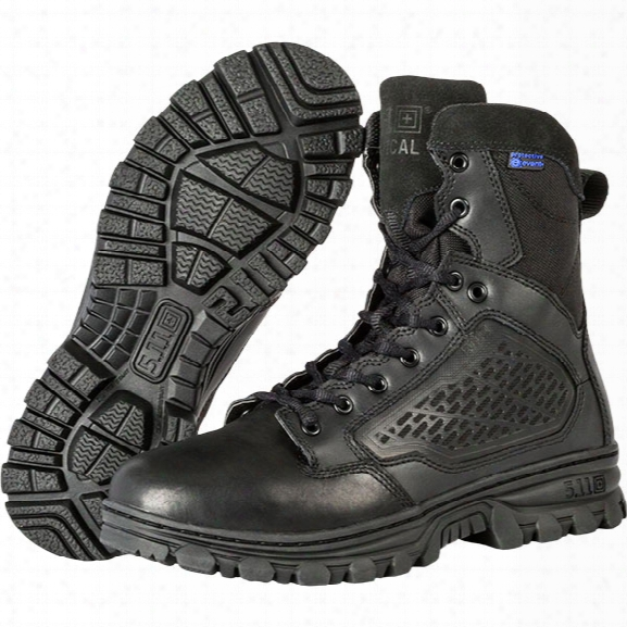 "5.11 Tactical Evo 6"" Waterproof Side-zip Boot, Black, 10.5 Regular - Metallic - Male - Excluded"