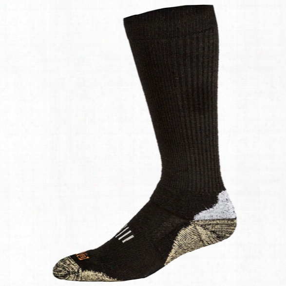 5.11 Tactical Merino Wool Otc Boot Socks, Black, Large - Wool - Male - Excluded
