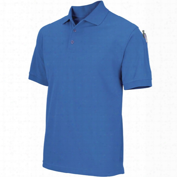 5.11 Tactical Professional Short-sleeve Polo, Xx-large, Academy Blue - White - Male - Excluded