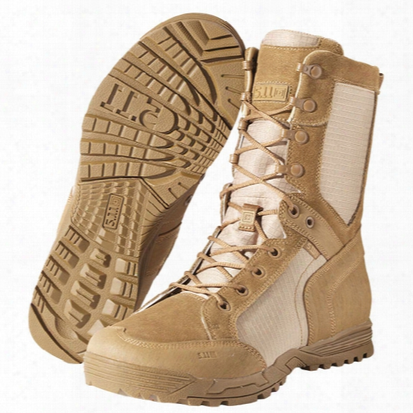 5.11 Tactical Recon Desert Boot, Dark Coyote, 10.5 - Tan - Male - Excluded