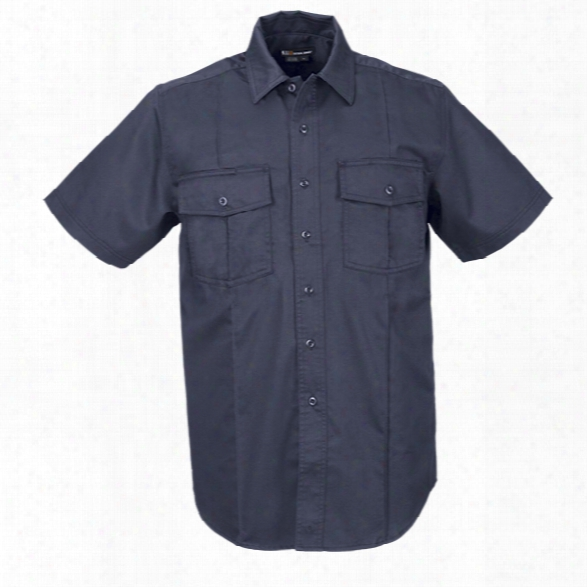 5.11 Tactical Station Ss Shirt, Class A, Fire Navy, 2xl Tall - Lbue - Male - Excluded