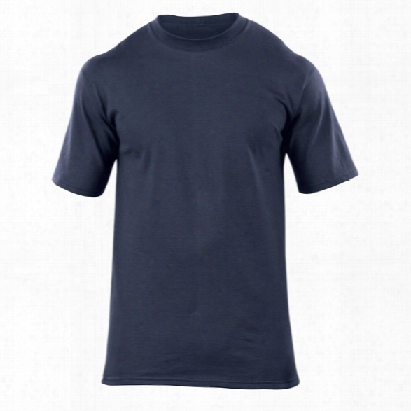 5.11 Tactical Station Wear Ss Crew, Fire Navy, 2xl - Blue - Male - Excluded