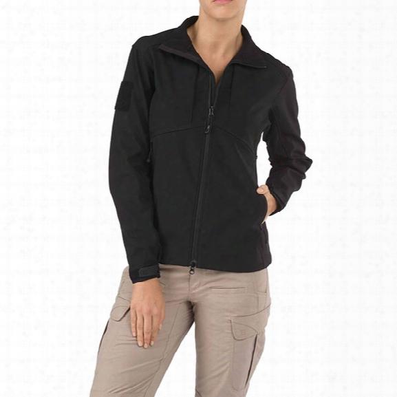 5.11 Tactical Womens Sierra Softshell Jacket, Black, Lg - Black - Female - Excluded