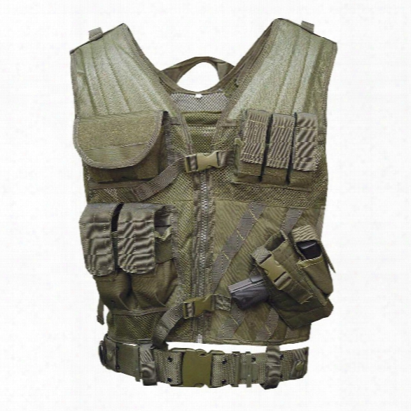 5ive Star Gear Cross Draw Vest, Od Green, Large/2x-large - Green - Male - Included