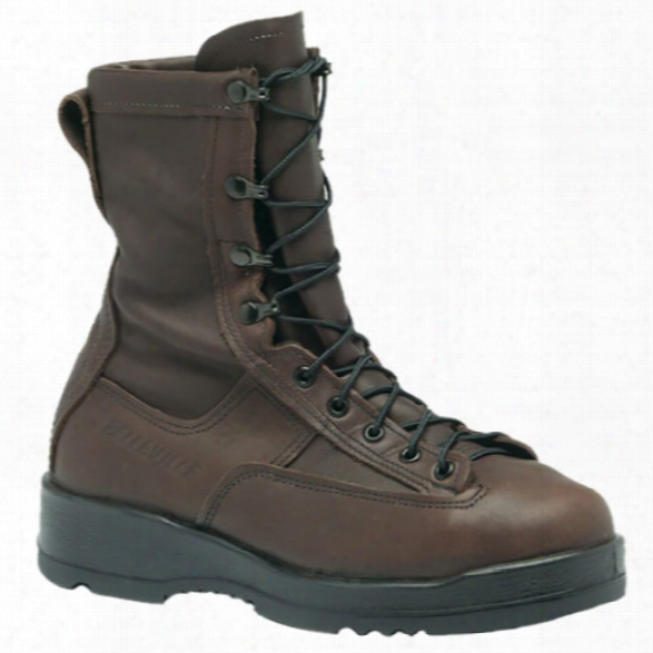"Belleville Wet Weather 8"" Steel Toe Flight Boot, Brown, 10.5r - Brown - Male - Included"