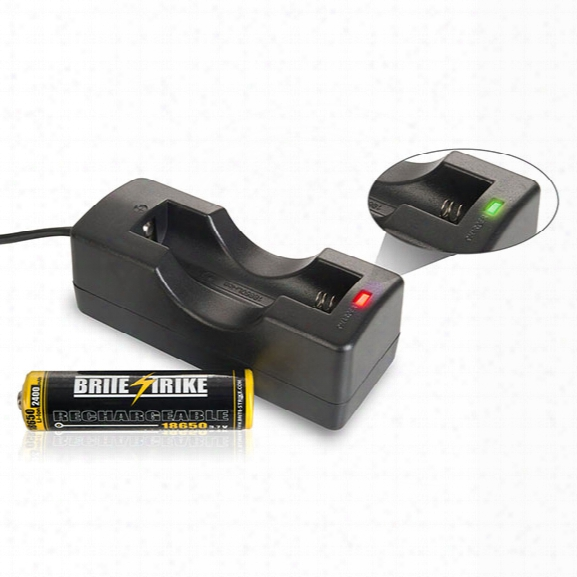Brite-strike Battery Charger For Brite-strike® 18650 Li-ion Batteries Only - Unisex - Included