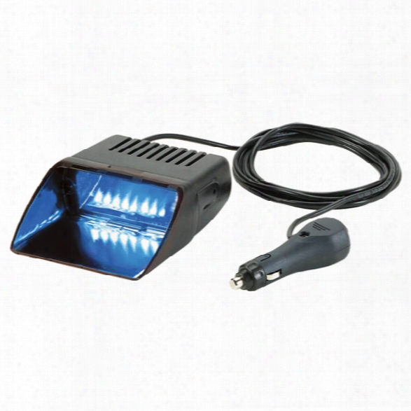 Federal Signal Viper S2 Internal/exterior Led Warning Lights, Single-head W/ Cigarette Plug, Blue - Blue - Male - Excluded