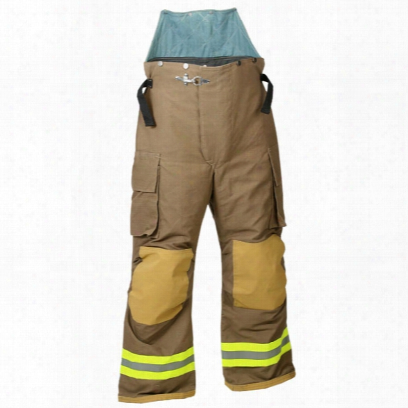 Fire-dex Chieftain 32x Turnout Pant, Nomex/kevlar, Khaki, 2xl - Lime - Male - Included