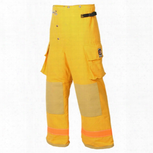Fire-dex Chieftain 35m Turnout Pant, Nomex Iiia, Black W/lime Trim, Sm - Black - Male - Included