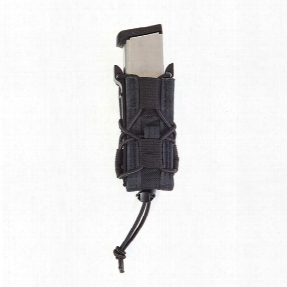 High Speed Gear Belt Mounted Pistol Taco Pouch, Black - Black - Male - Included
