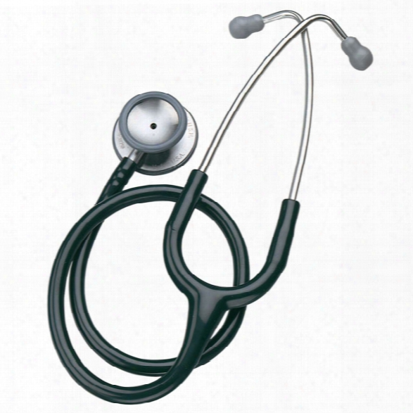 """Mabis 28"""" Stethoscope, Black - Black - Male - Included"""