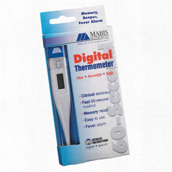 Mabis 60 Second Digital Thermometer, Fahrenheit - Camouflage - Unisex - Included