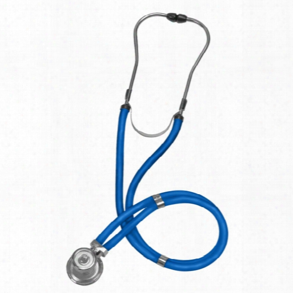 Mabis Legacy Sprague Rappaport Type Stethoscope, Royal Blue - Black - Unisex - Included