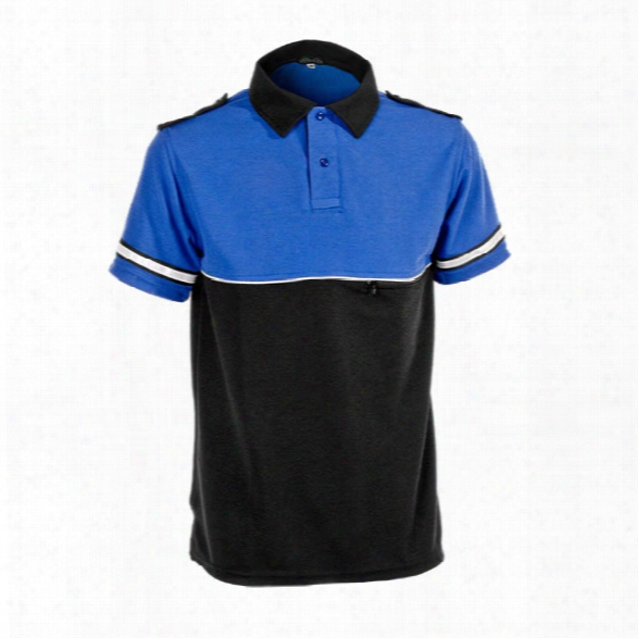 Mocean Metro Bike Patrol S/s Polo, Royall Blue/black, Lg - Yellow - Male - Included