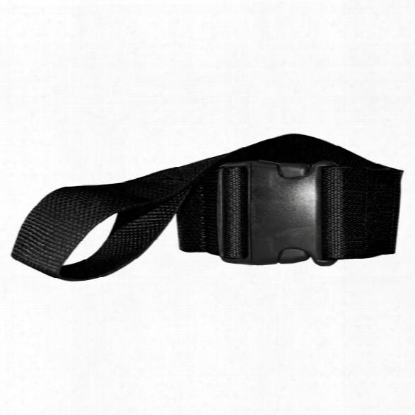 Morrison Medical Polypropylene Webbing, Black, Plastic Side Release Buckle W/looplok Ends, 2 Pc, 7' - Black - Male - Included