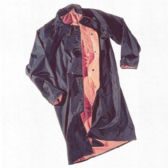 "Neese 48"" Reversible Raincoat W/ Snap Collar, Black/orange, Xx-large, Plain - Black - Male - Included"