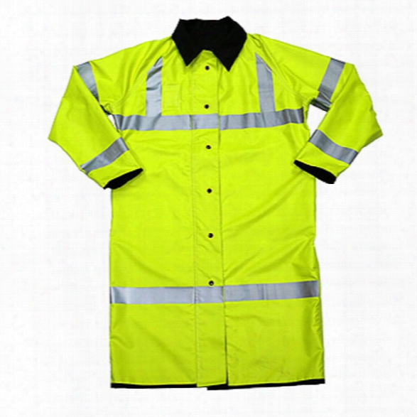 Neese Hi-visibility Reversible Traffic Rain Coat, Xx-large, Lime Green/black - Lime - Male - Included