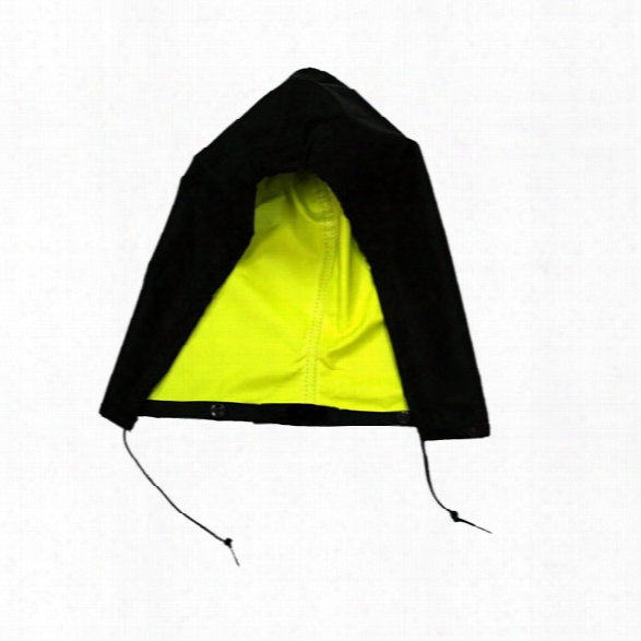 Neese Raincoat Hood, Osfa, Black/hi-vis Yellow - Black - Male - Included