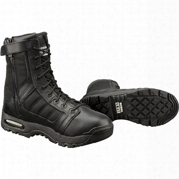 "Original S.w.a.t. 9"" Air Side-zip Police Boots, Men's, Black, 10.5, Medium - Black - Male - Included"