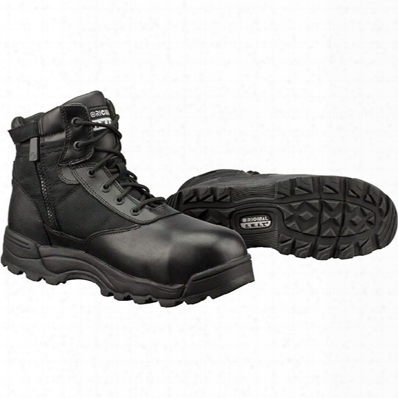 "Original S.w.a.t. Classic 6"" Safety Boot, Sidezip Waterproof, Black, 10.5m - Brass - Male - Included"
