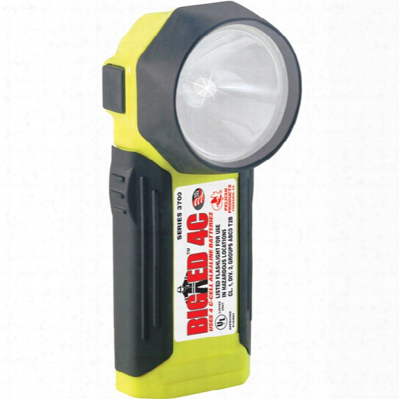 Pelican Big Ed 4c-cell Alkaline Flashlight, Yelow - Yellow - Male - Included