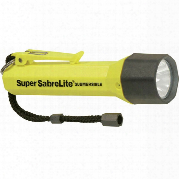 Pelican Sabrelight 2000 Incandescent Flashlight, 3-c Cell Battery, Black - Yellow - Male - Included