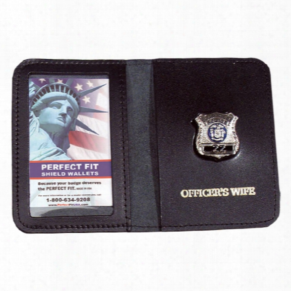 Perfect Fit Mini Badge Case With Imprint, Black - Black - Male - Included