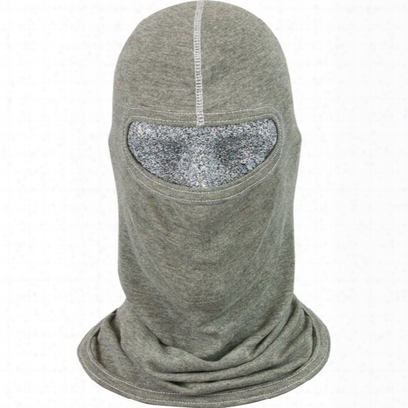 Pgi Cobra Classic Style S.w.a.t. Tactical Hood, Single Ply, Small Face Opening, Para-tek Fr Tri-blend, Heather Gray - Green - Male - Included