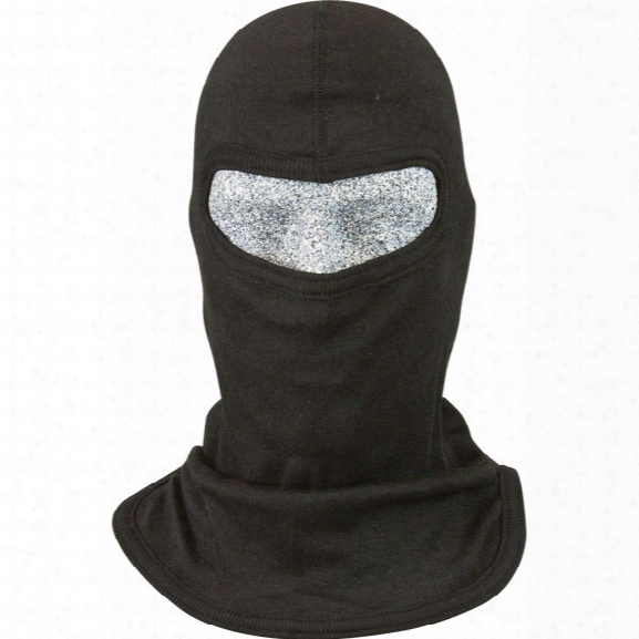 Pgi Cobra Classic Style S.w.a.t. Tactical Hood, Single Ply, Small Face Opening, Carbon Shield, Black - Carbon - Male - Included