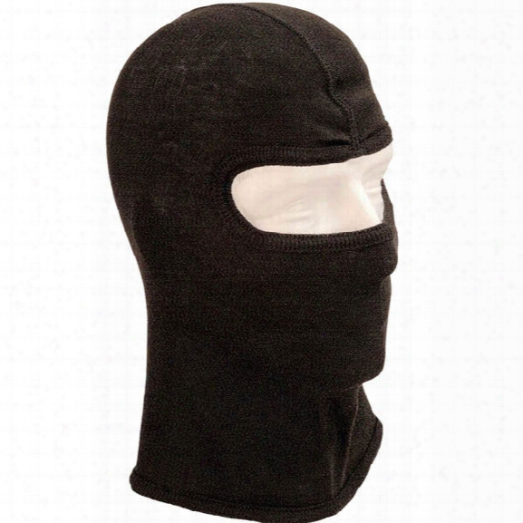Pgi Cobra S.w.a.t. Tactical Fire Hood, Single Ply, Small Face Opening, Carbon Shield, Black - Carbon - Male - Included