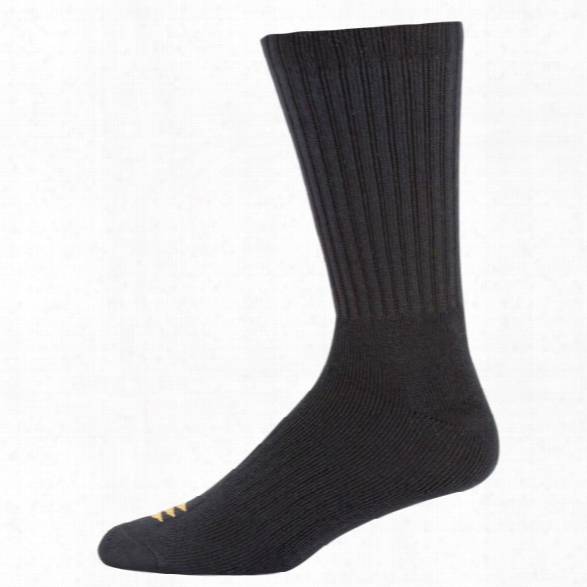 Powersox Classic Cushion Crew Socks (6-pair), White, Lg (10-13) - White - Male - Included