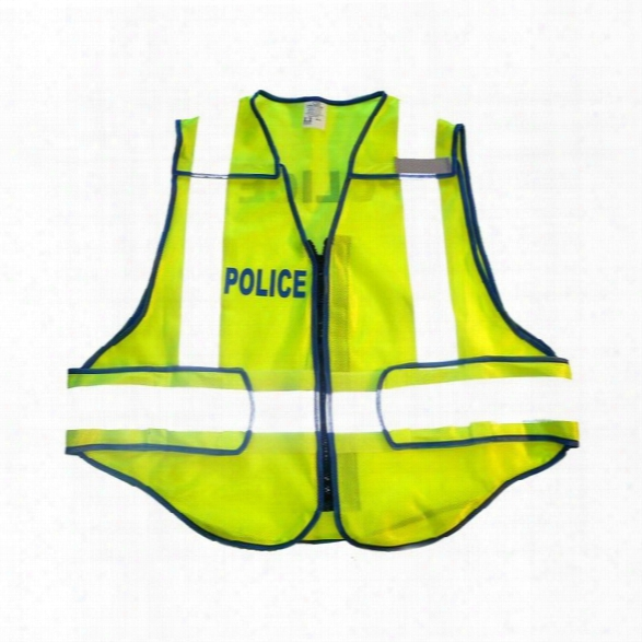 Radians Zip-and-rip Ansi 207 Vest, Lime, Crossing Guard, Jumbo - Lime - Male - Included