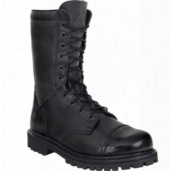 "Rocky 10"" Zipper Jump Boot, Men's, Black, 10.5, Medium - Metallic - Male - Included"