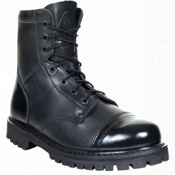 "Rocky 7"" Zipper Jump Boot, Black, Men, 10.5, Middle - Black - Male - Included"
