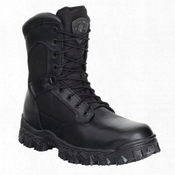"Rocky 8"" Alphaforce Boots, Men/women, Black, 10.5, Medium - Black - Female - Included"